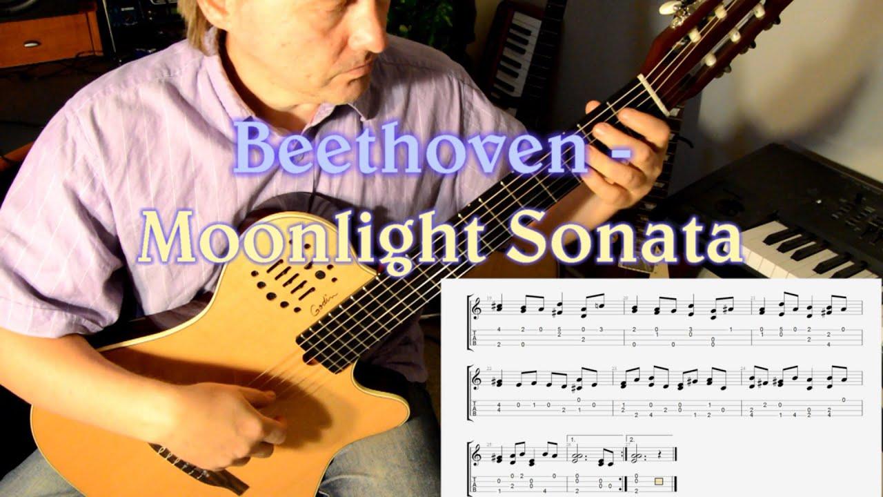 Beethoven Moonlight Sonata Guitar FREE TABS and sheet