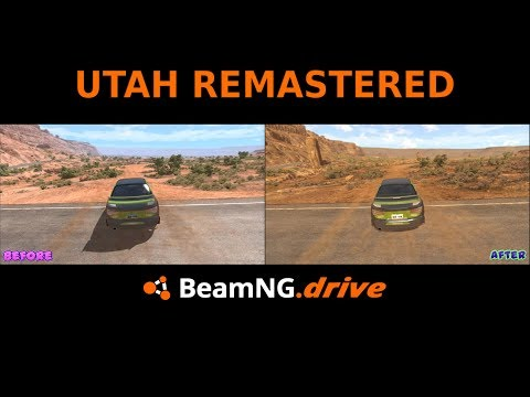 BeamNG: UTAH Remastered(Before & After)