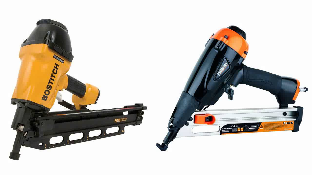BOSTITCH F21PL Round Head 1 12 Inch to 3 12 Inch Framing Nailer with ...