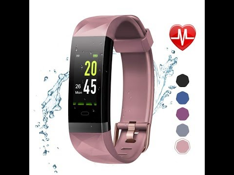 LETSCOM Fitness Tracker Color Screen HR, Activity Tracker with Heart Rate Monitor