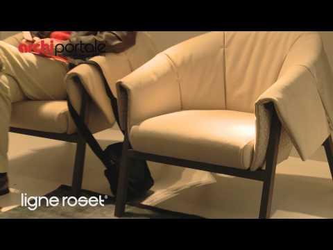 sedia sfoderabile in rovere gina ligne roset. Black Bedroom Furniture Sets. Home Design Ideas