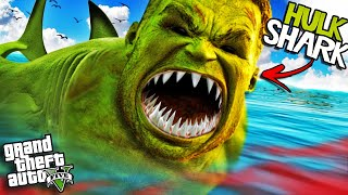 The HULK SHARK has ATTACKED GTA 5 (Mod)