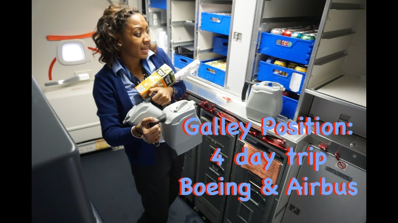 Galley position.... 4 days..... Airbus & Boeing ???? | Traveling With Tee! ???? | Flight Attenda