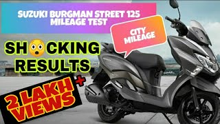 Suzuki Burgman 125 100ml Mileage Test | SHOCKING RESULTS... |2,00,000+ Views
