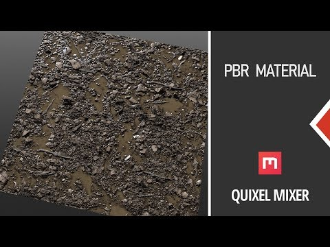 Creating PBR materials - Quixel mixer beginner tutorial thumbnail