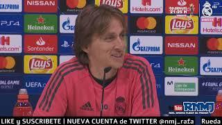 Rueda de prensa de MODRIC previa Real Madrid - Ajax vuelta octavos Champions (04/03/2019)