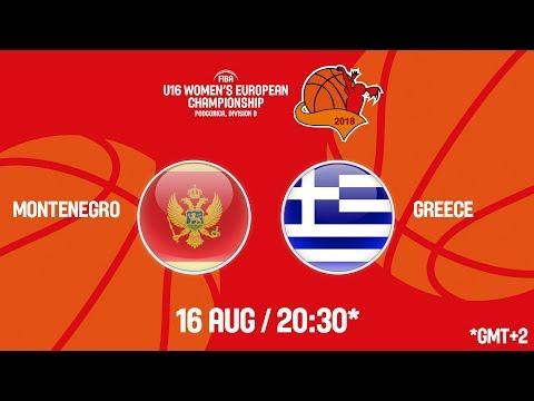 LIVE 🔴 – Montenegro v Greece – FIBA U16 Women's European Championship Division B 2018