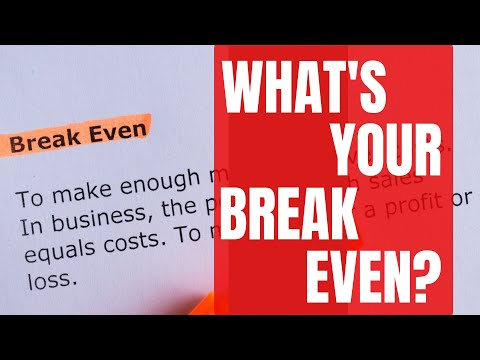 Contractor Business Tips: How To Find Your Break Even Point