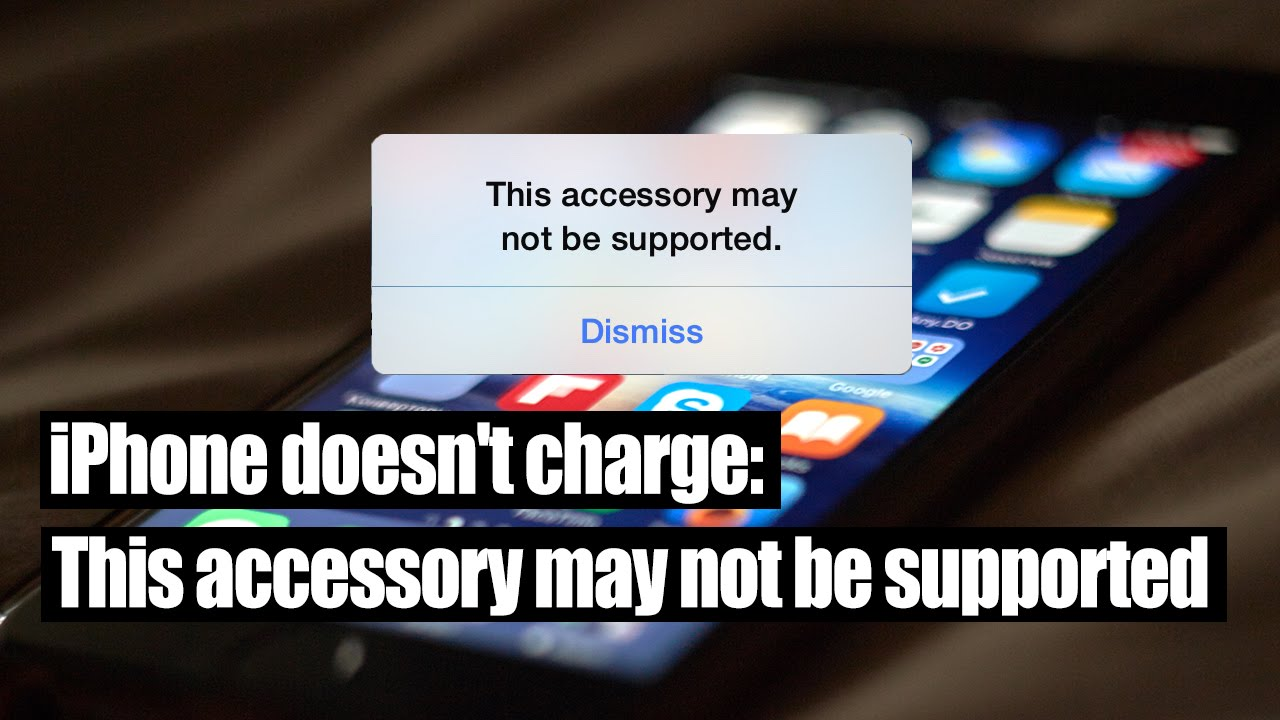 iphone this accessory may not be supported iphone doesn t charge this accessory may not be supported 1033