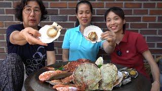 |TẬP 543| CÙNG HAI MẸ ĂN NGUYÊN MÂM BÀO NGƯ TÔM SÒ ĐIỆP BẠCH TUỘC CHẤM ỚT CHANH!SEAFOOD EATING SHOW