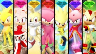 Team Sonic Racing - All Team Ultimates (Super Forms)