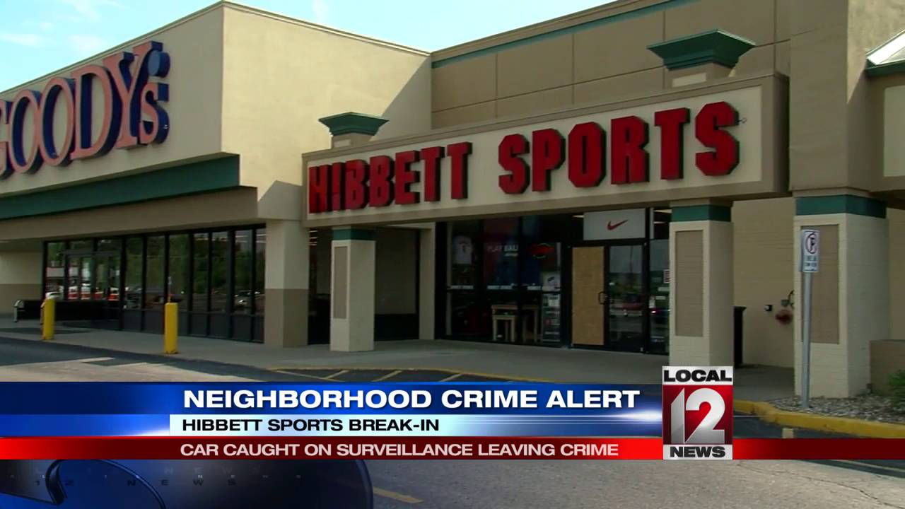 b38191e7d2ddac Officials look for suspect in Hibbett Sports break-in - YouTube