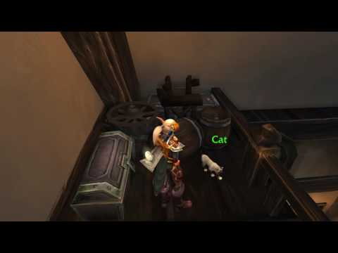World of Warcraft- Legion - Val'sharah - kitty petting!
