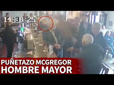 McGregor asesta un puñetazo a un hombre mayor por rechazar su whisky