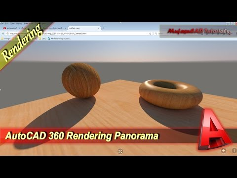 AutoCAD 360 Rendering Panorama With Cloud