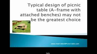 Picnic Table Plans - How To Find The Best