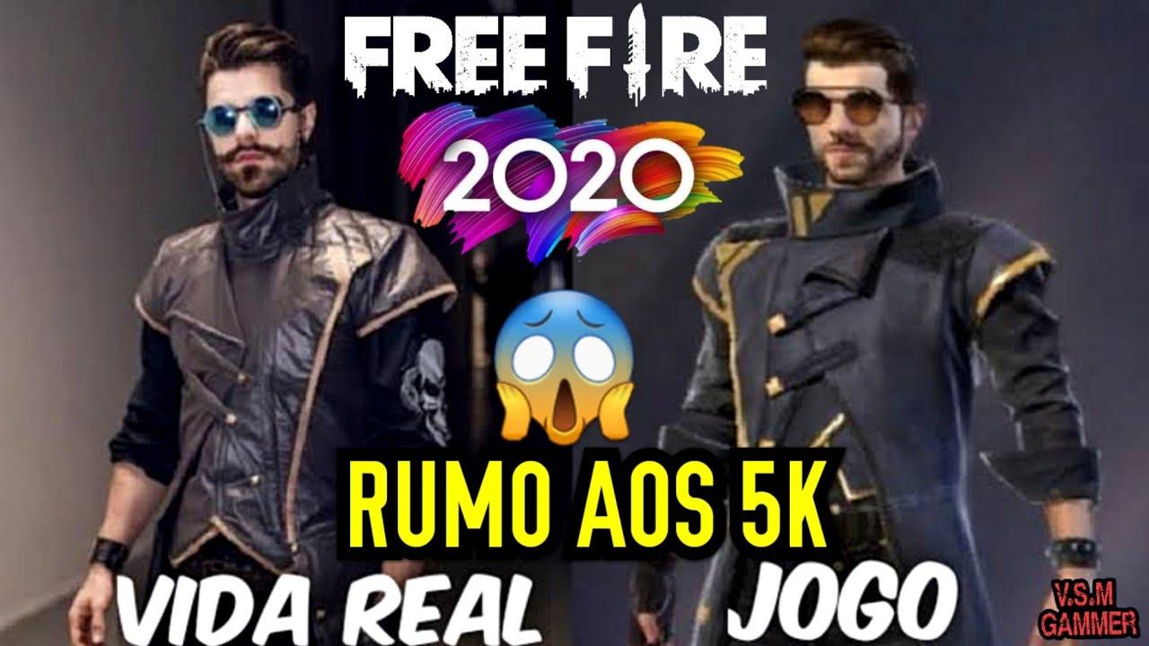 FREE FIRE TODOS OS PERSONAGENS NA VIDA REAL  2020????????????????️