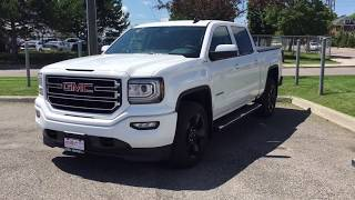 2017 GMC Sierra 1500 SLE 4WD Crew Cab Elevation Edition Tonneau Cover White Oshawa ON Stock# 171795