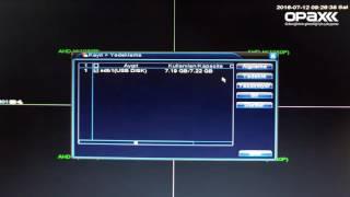 Opax AHDVR Kayıt Cihazları USB Flash Disk Yedek Alma Nasıl Yapılır?