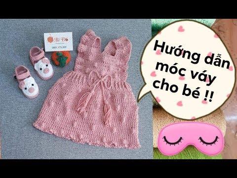 Hướng Dẫn Móc Váy Bằng Len Cho Bé 3 đến 6 Tháng Họa Tiết Hạt Bắp / Bí Đỏ Handmade Shop