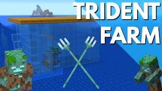 Minecraft-Wie man eine Trident Farm in Update Aquatische 1.13.1: Ertrunken Farm-Tutorial von Avomance