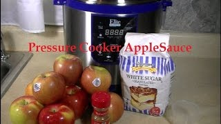 Homemade Applesauce In A Pressure Cooker