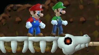 Newer Super Mario Bros Wii Co-Op (2 Player) Walkthrough - Part 2 - Rubble Ruins