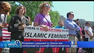 Protesters Gathered In Cities Across The US To Say Shariah Law Is Incompatible With The Constitution W