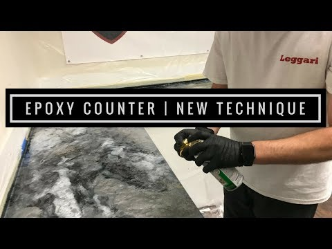 Epoxy Countertop Coating with New Technique - Tips and Tricks from the Pros!