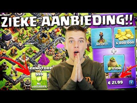 ZIEKE AANBIEDING KOPEN IN CLASH OF CLANS!! NEDERLANDS