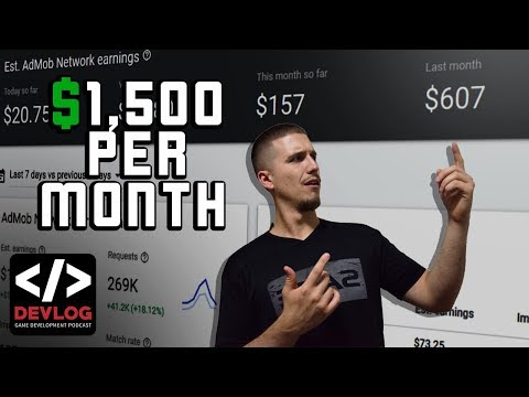 How To Earn $1500 Per Month With Simple Mobile Games - Game Development Podcast