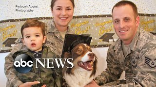 Military mom and her young family reunited at last