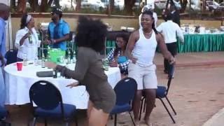 Ammara Brown dancing to Jah Prayzah