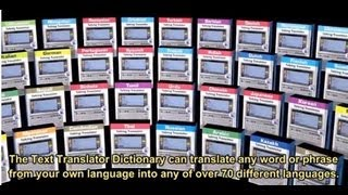 English Electronic Dictionary Expandable Text Translator Speaking Pocket Language Teacher, Trano*