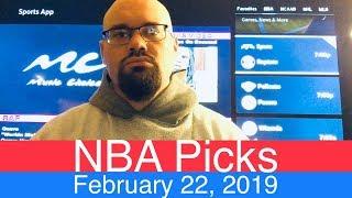 NBA Picks (2-22-19) | Basketball Sports Betting Expert Predictions Video | Vegas | February 22, 2019