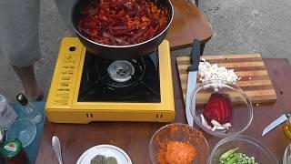 Рецепт борща, антикризисный борщ, вегетарианский борщ без мяса
