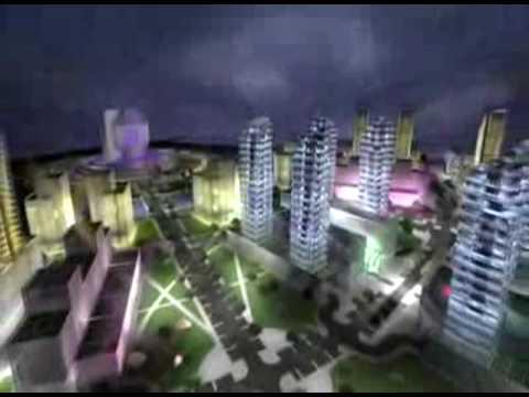 Minsk Belarus new building. The new European Dubai