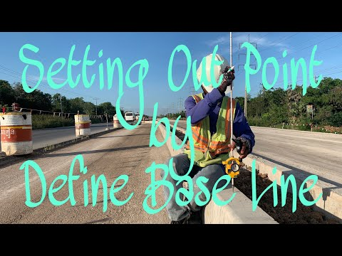 Setting Out Point By Define Base Line