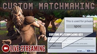 🔴 Custom Matchmaking with Subs || Code is: vibez123 [Fortnite] LIVE