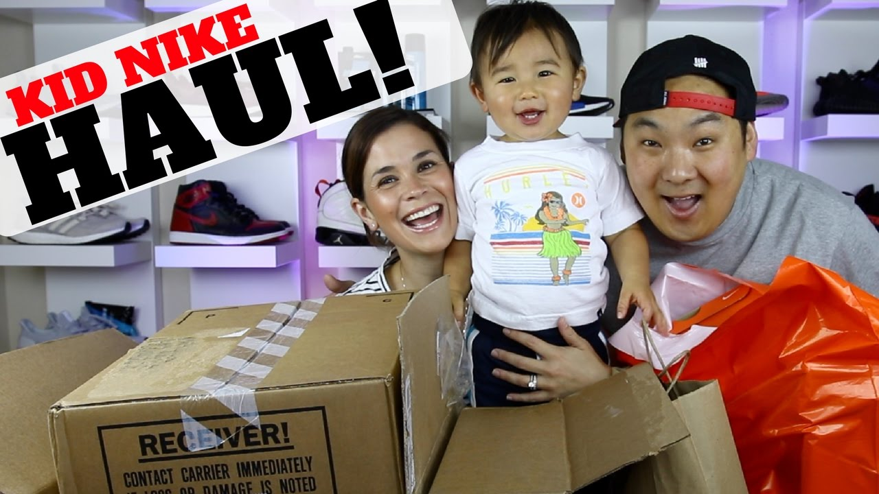 KID NIKE SNEAKER & CLOTHING HAUL! (OUR FAVORITE KID SHOES)