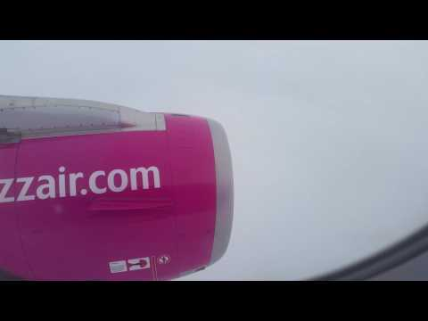 Wizz Air Airbus 320A landing at Bratislava airport from Tuzla