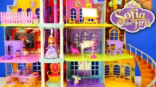 NEW Disney Princess Giant Doll House Sofia The First Magical Royal Castle Prep Academy Toys