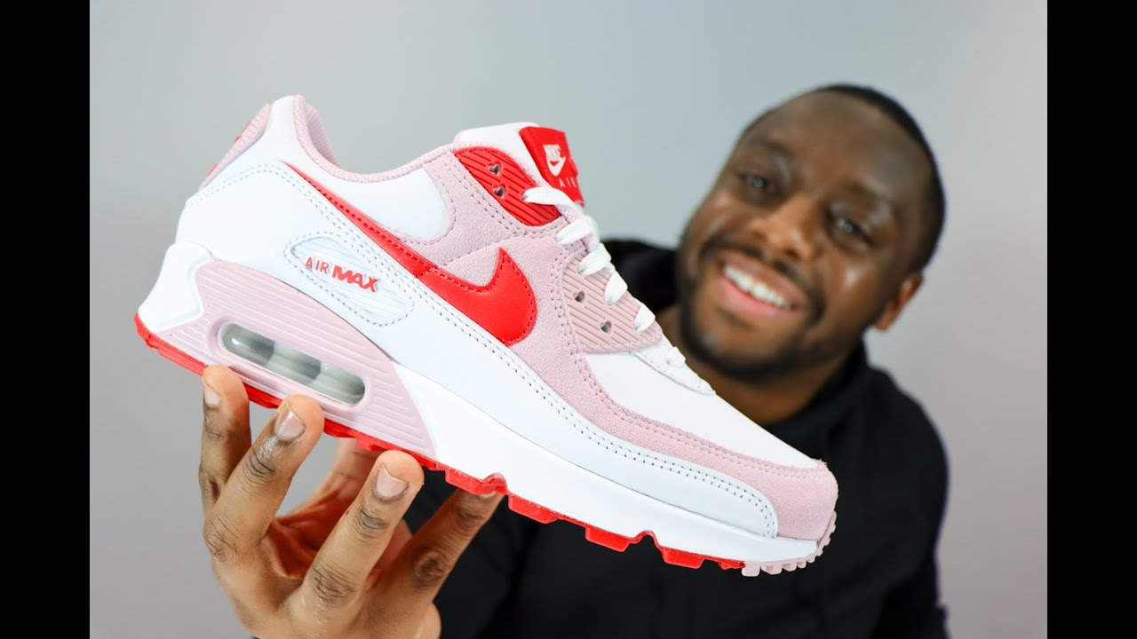 Nike Air Max 90 Love Letter Sneaker Review - QuickSchopes 130 Schopes - DD8029 100 Valentines