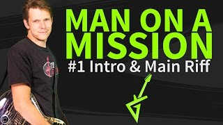 How to play Man On A Mission Guitar Lesson & TAB - Intro & Main Riff - Van Halen