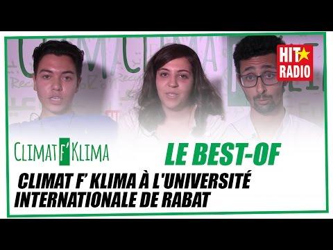 BEST OF : CLIMAT F' KLIMA À L'UNIVERSITÉ INTERNATIONALE DE RABAT