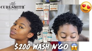 Baixar $200 WASH DAY ROUTINE! // CurlSmith Scalp Treatment & Style Review + Demo