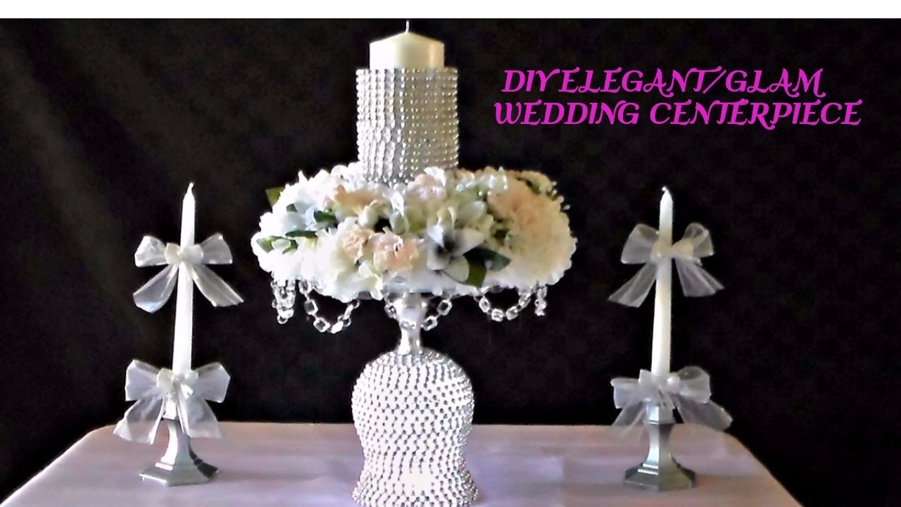 Diy elegantglam wedding centerpiece youtube diy elegantglam wedding centerpiece arubaitofo Image collections