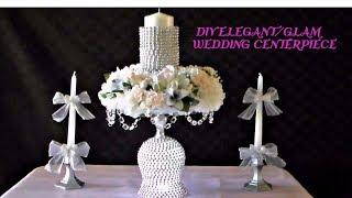 DIY ELEGANT/GLAM WEDDING CENTERPIECE