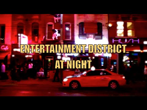 Entertainment District At Night