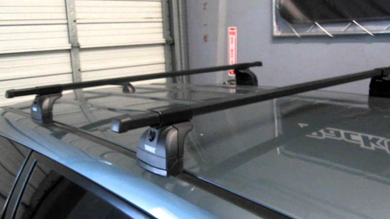 2009 2013 subaru forester with thule 460 squarebar roof rack by rack outfitters